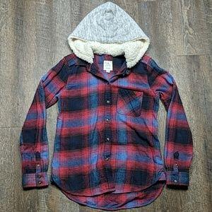 Boyfriend style Plaid Cotton Button Up jacket